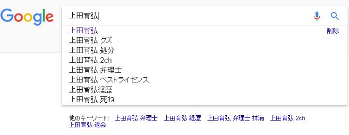上田育弘の検索キーワード